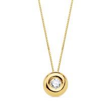 Colgante con diamante Talla brillante, largo 44 cm Este producto se entrega estuchado y envuelto para regalo