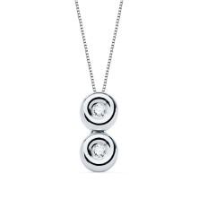Collar con diamante Talla brillante 0.040 kiltes, largo 44 cm Este producto se entrega estuchado y envuelto para regalo