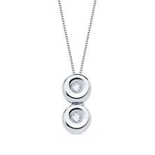 Collar con diamante Talla brillante 0.030 kiltes, largo 44 cm Este producto se entrega estuchado y envuelto para regalo