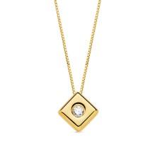 Collar con diamante Talla brillante 0.050 kilates. largo 44 cm Este producto se entrega estuchado y envuelto para regalo