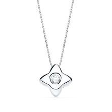 Collar con diamante Talla brillante 0.50 kilates, largo 44 cm Este preducto se entrega estuchado y envuelto para regalo