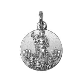 Medalla San Rafael fabricada en plata de 1º ley Este producto se entrega estuchado y envuelto para regalo