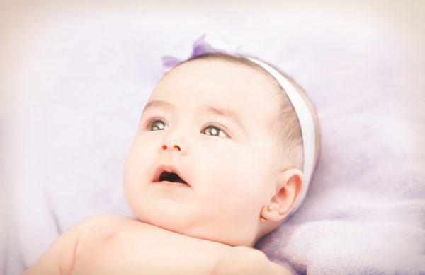 pendientes de aro para bebe