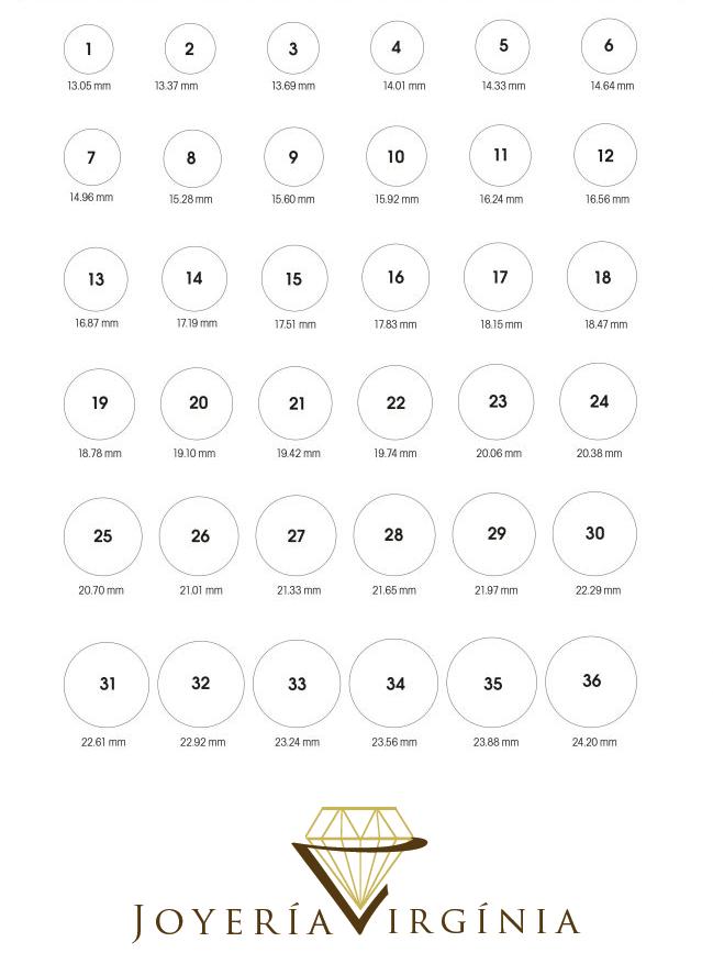 Guía de talla para anillos - Joyería Virginia Blog